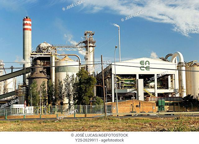 Cellulose factory, San Juan del Puerto, Huelva province, Region of Andalusia, Spain, Europe