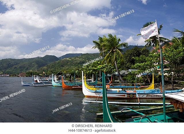 Boote auf dem Taal-See, Philippinen, Outriggers on Lake Taal, Philippines