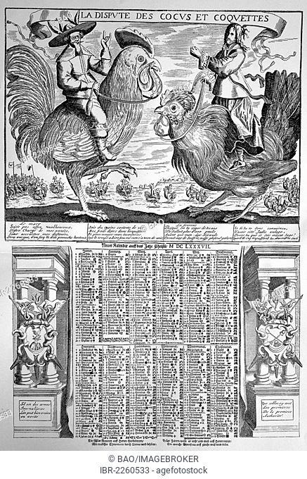 The calendar of the cornuted men, 17th century