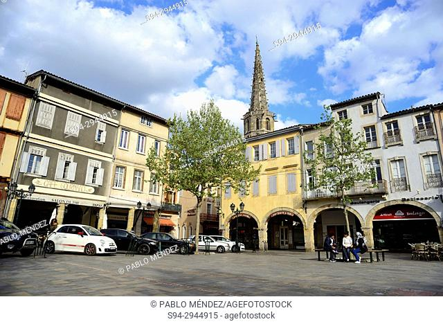 Main square of Limoux, Languedoc-Roussillon, France