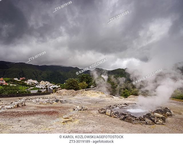 Caldeiras das Furnas, hot springs in Furnas, Sao Miguel Island, Azores, Portugal