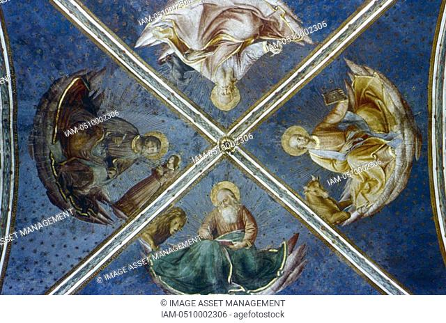 Fra Angelico Guido di Pietro/Giovanni da Fiesole c1400-55 Italian painter  'The Four Evangelists'  Fresco  Chapel of Nicholas V, Vatican Palace