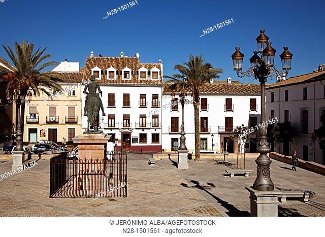 Coso Viejo Square, Antequera, Malaga Province, Andalusia, Spain