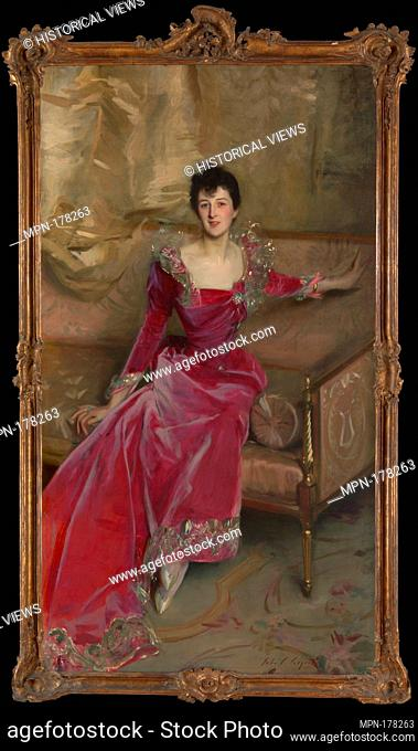 Mrs. Hugh Hammersley. Artist: John Singer Sargent (American, Florence 1856-1925 London); Date: 1892; Medium: Oil on canvas; Dimensions: 81 x 45 1/2in