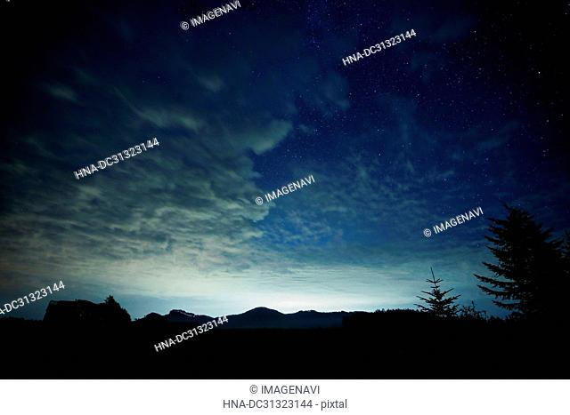 Starry Sky and Cloud