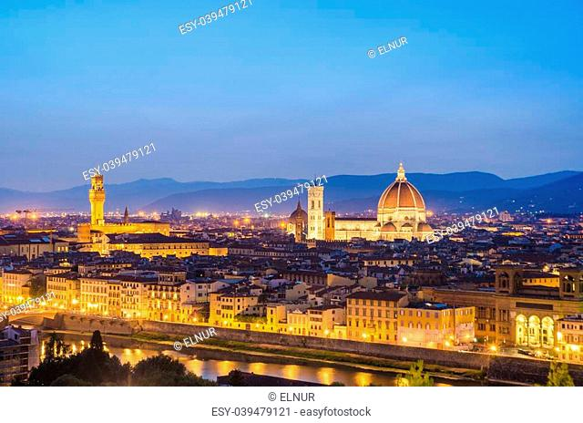 Florence cityscape in dusk hours