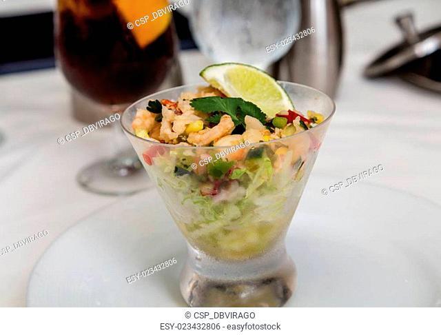 Ceviche in Glass