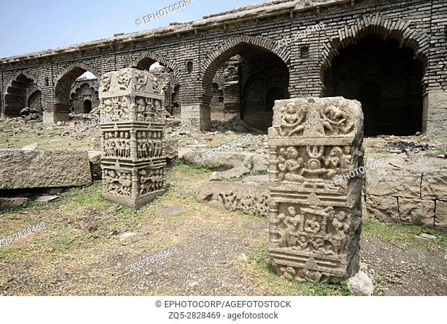 Old structure near Palasdeo Temple, Near Ujjani Dam or Bhima Dam Maharashtra, India