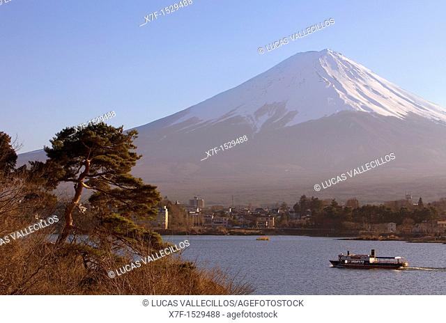Mt Fuji from Kawaguchi Lake,Kawaguchiko,Yamanashi prefecture, Japan