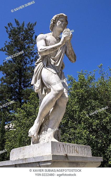 Androne statue, Villa Bellini, Catania, Sicily, Italy