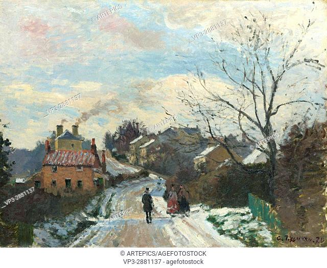 Camille Pissarro. Fox Hill, Upper Norwood. 1870. National Gallery - London
