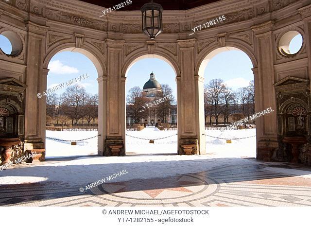 Diana monument arches, Hofgarten, Munich