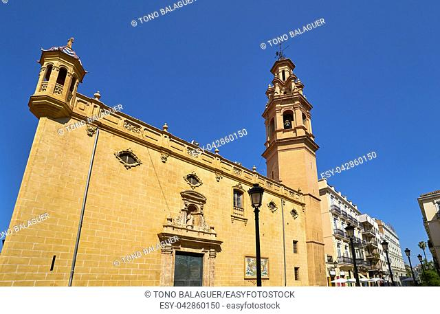 beautiful church in navellos street in valencia