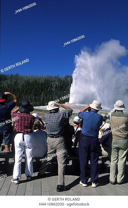 USA, Wyoming, Yellowstone national park, geyser, s