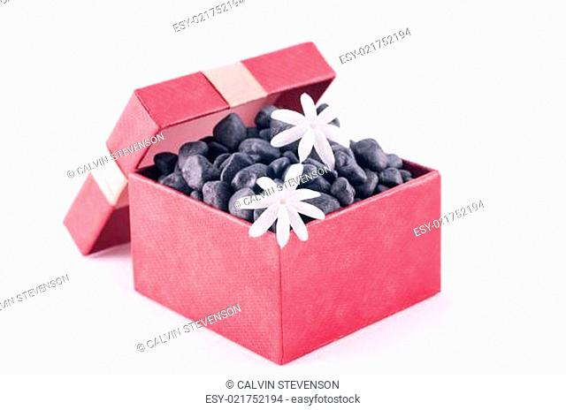 Wellness gift in a box with white Jasmine flowers