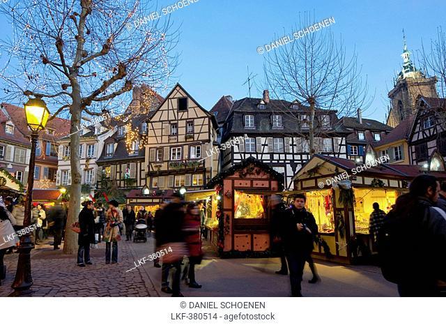 Christmas market and historic quarter, Colmar, Alsace, France