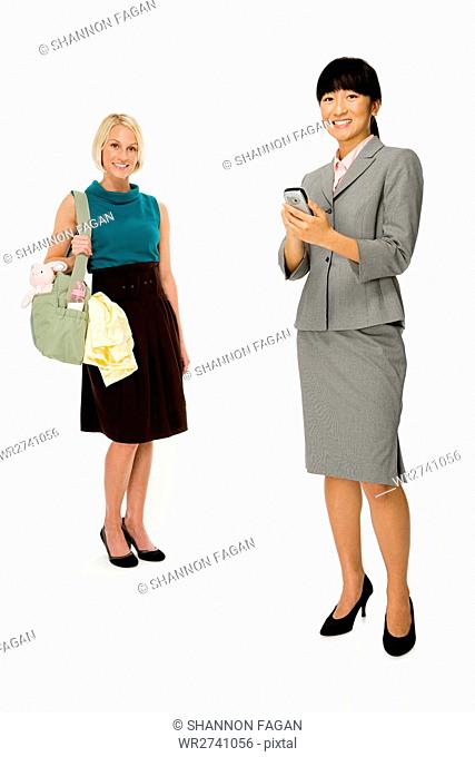Mother and businesswoman
