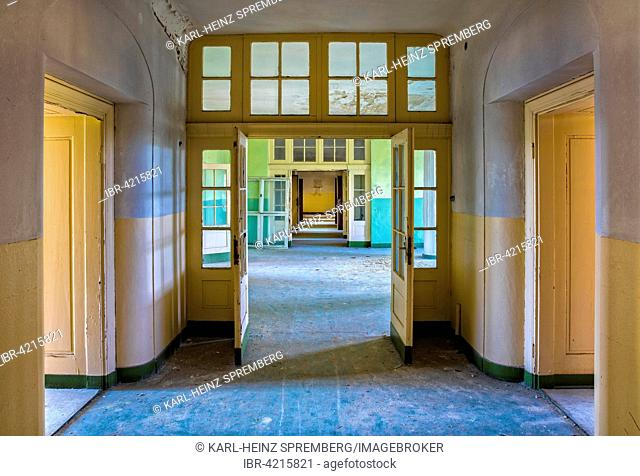 Hall in the former Russian officer barracks in Wünsdorf, Brandenburg, Germany