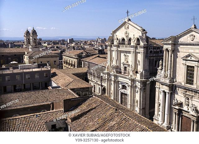 Church of San Benedetto and Church of San Francesco Borgia, Catania, Sicily, Italy