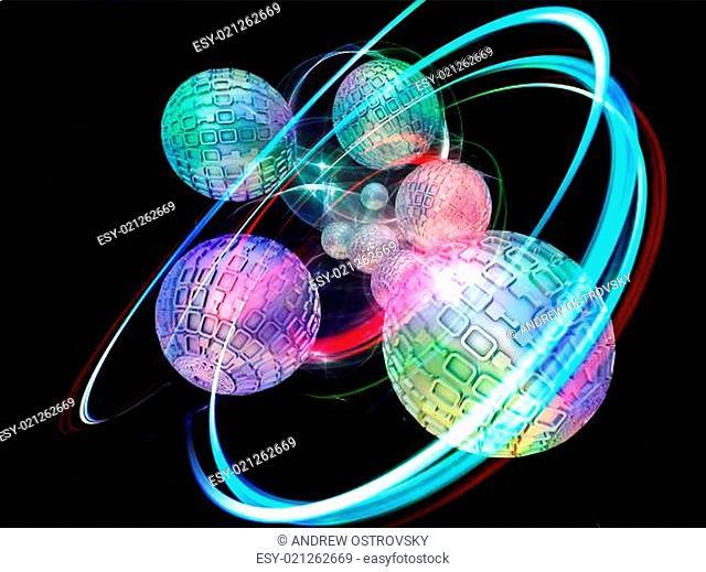 Swirl of Number Spheres
