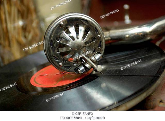 retro old gramophone