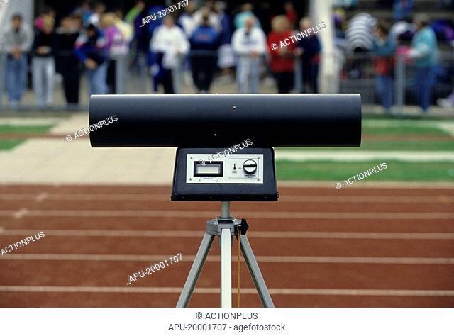 Race track wind monitoring equipment