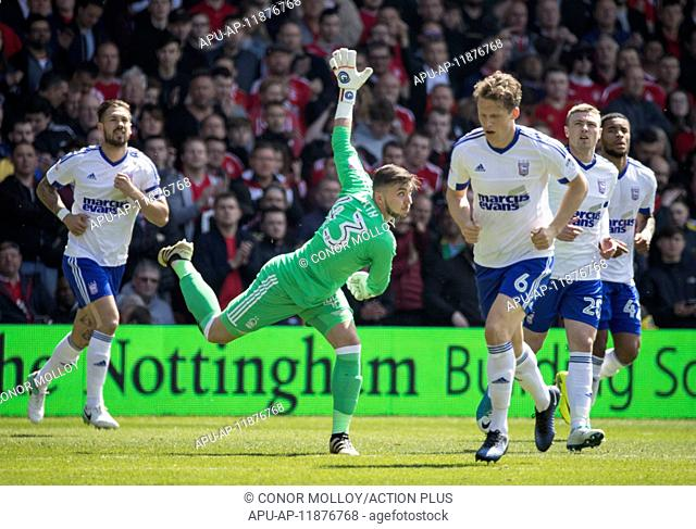 2017 EFL Championship Football Nottingham Forest v Ipswich Town May 7th. May 7th 2017, City Ground, Nottingham, England; EFL Championship football Nottingham...
