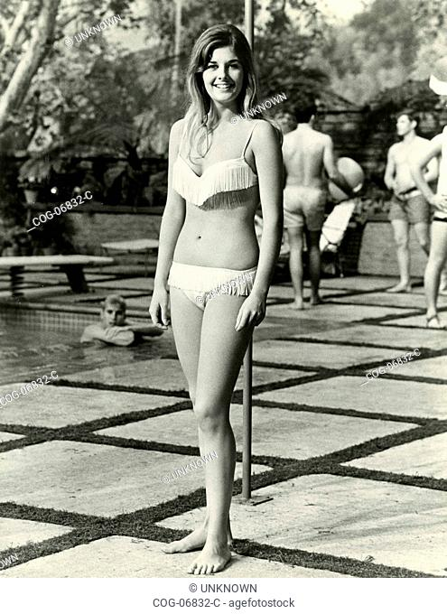Unidentified actress in swimsuit