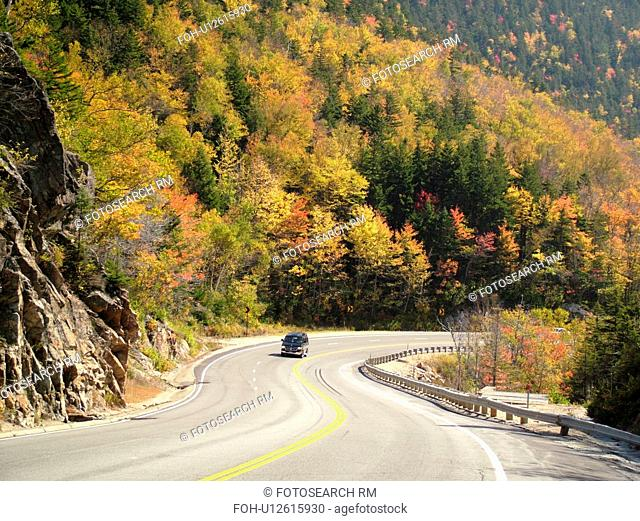 White Mountains, NH, New Hampshire, scenic road