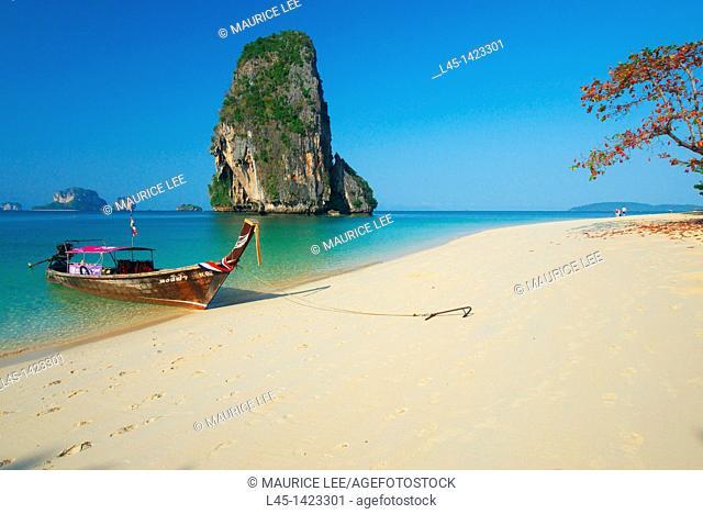 Phra Nang beach in Krabi province  Thailand