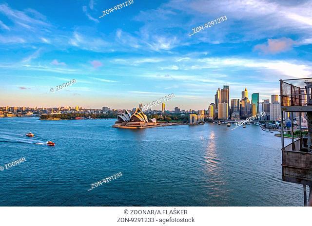 Sydney skyline with opera house and circular quay