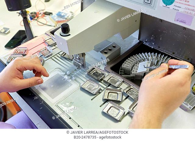 Technician preparing samples, Histology, Sample preparation, Anatomic Pathology, Hospital Donostia, San Sebastian, Basque Country, Spain