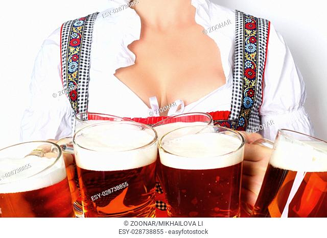 Oktoberfest woman with beer