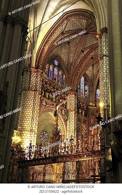 The Primate Cathedral of Saint Mary, Gothic, XIII-XV centuries, high altar, Toledo, Spain