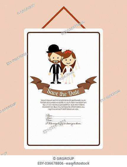 wedding invitation design, vector illustration eps10 graphic