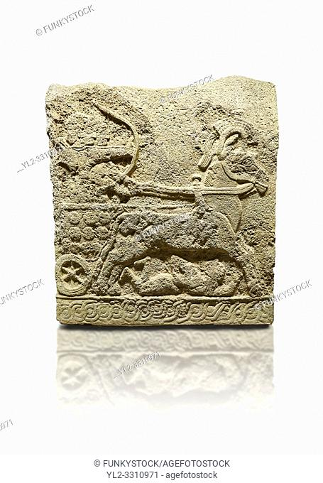 Hittite relief sculpted orthostat stone panel of Long Wall Basalt, Karkamıs, (Kargamıs), Carchemish (Karkemish), 900 - 700 BC
