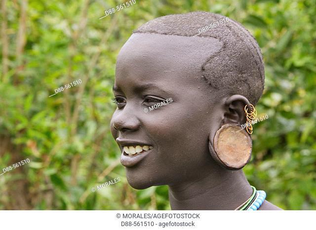 Surma girl. Near Kibish. Ethiopia