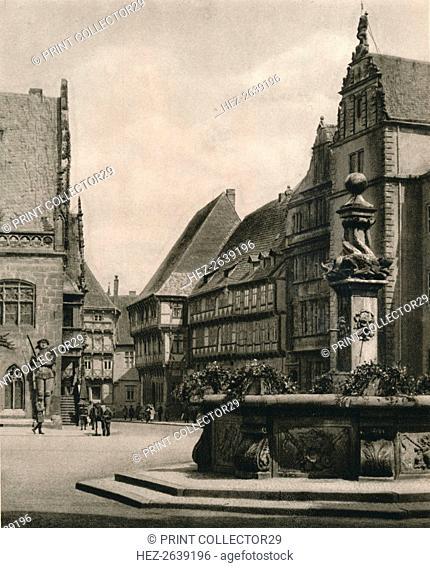 'Halberstadt - Marketplace', 1931. Artist: Kurt Hielscher