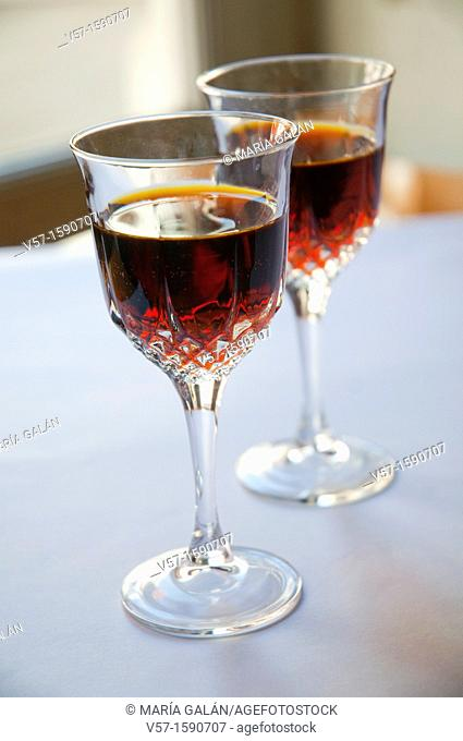 Two liqueur glasses