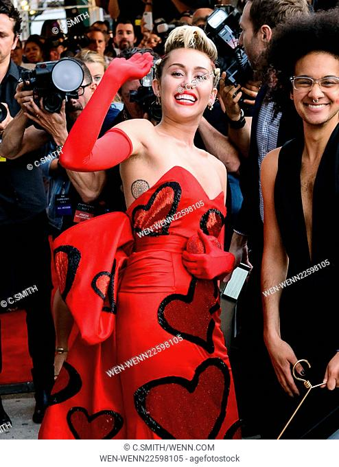 Outside arrivals at Amfar's Inspiration Gala at Spring Studios Featuring: Miley Cyrus Where: New York, New York, United States When: 16 Jun 2015 Credit: C