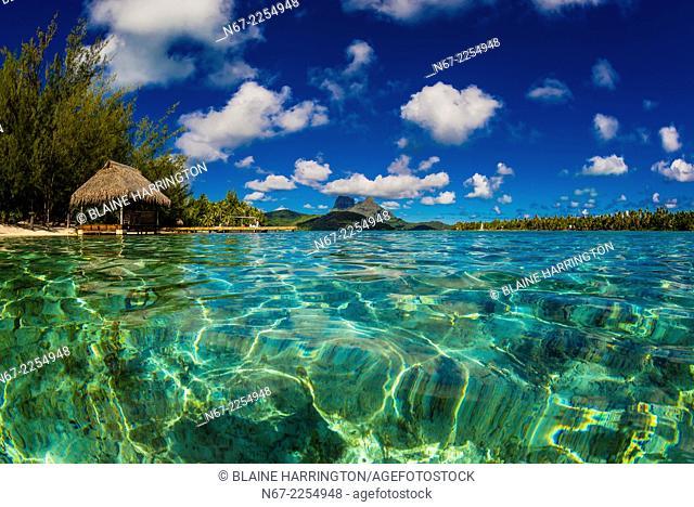 Haapiti Motu (a small private island) off Bora Bora, Society Islands, French Polynesia