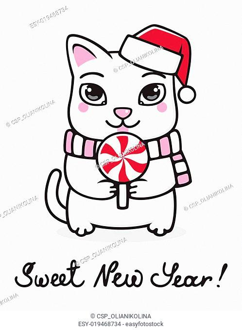 New Year kitty