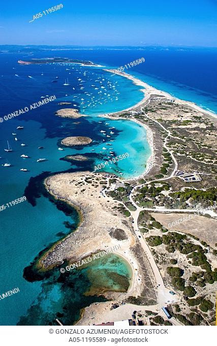 Ses Salines Natural Park. Ses Illetes Beach. Formentera Islads. Balearic Islands. Spain