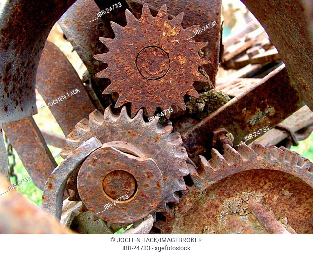 DEU, Germany : rusty cogwheel