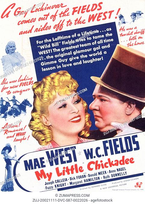 1940, Film Title: MY LITTLE CHICADEE, Director: EDWARD CLINE, Studio: UNIV, Pictured: EDWARD CLINE, W C FIELDS. (Credit Image: SNAP/ZUMAPRESS.com)