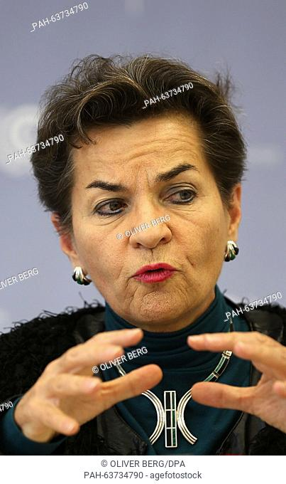 The Secretary General of the UN Climate Change Secretariat, Christiana Figueres, presents an action report with a view to the World Climate Summit, in Bonn