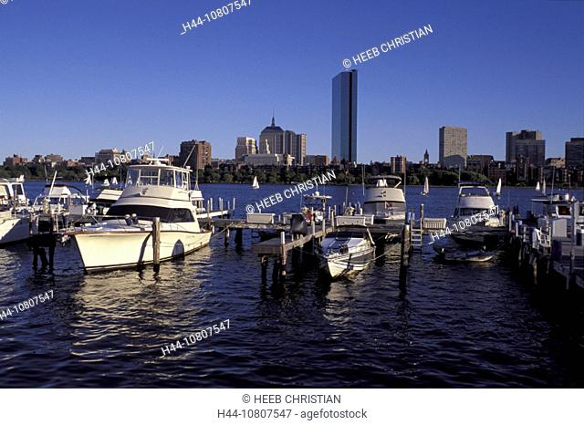 America, Boston, James River, Massachusetts, United States, North America, USA, harbor, boats