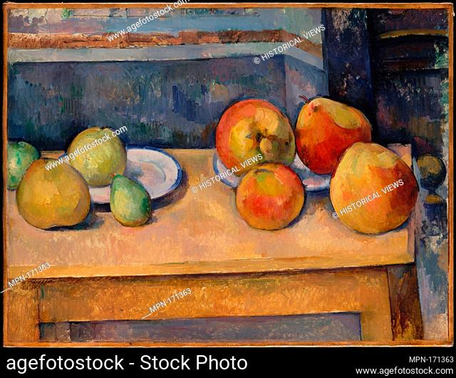 Still Life with Apples and Pears. Artist: Paul Cézanne (French, Aix-en-Provence 1839-1906 Aix-en-Provence); Date: ca. 1891-92; Medium: Oil on canvas;...