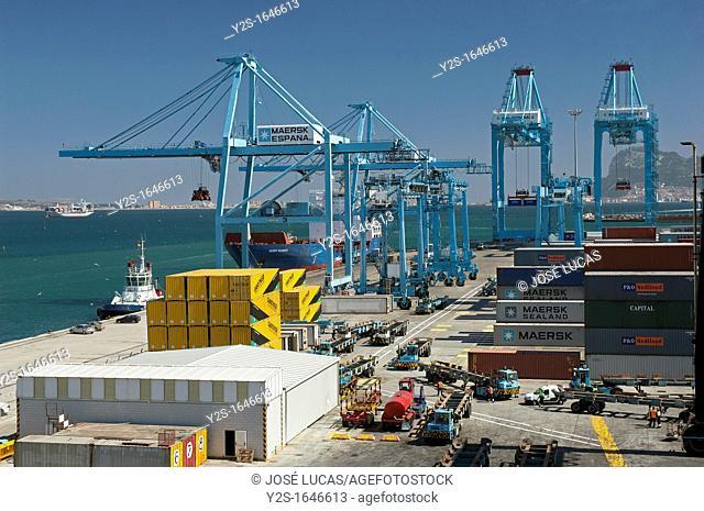 The containers port, Algeciras, Cadiz-province, Spain