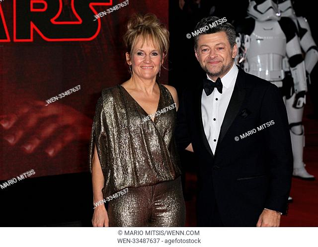 The European Premiere of Star Wars: The Last Jedi held at the Royal Albert Hall - Arrivals Featuring: Andy Serkis, Lorraine Ashbourne Where: London